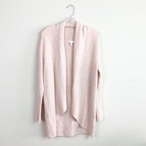 Leith   knit drape front cardigan long-line XS